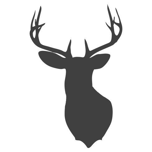 Silueta de cabeza de ciervo vector