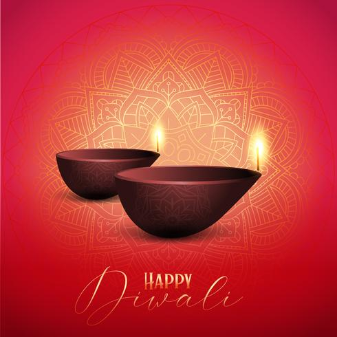 Dekorativa Diwali bakgrund vektor