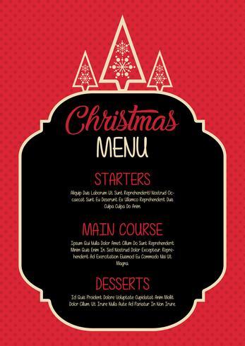Design del menu di Natale vettore