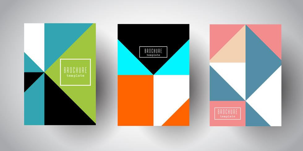 Brochure templates with abstract low poly designs vector