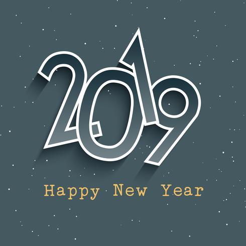Feliz año nuevo retro estilo fondo