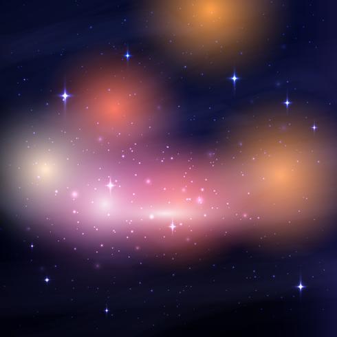 Galaxisk nattsky vektor