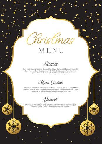 Christmas menu design vector