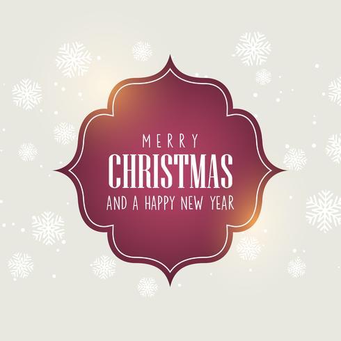 Fundo de Natal com texto decorativo vetor