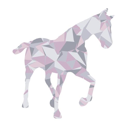 Low poly horse design