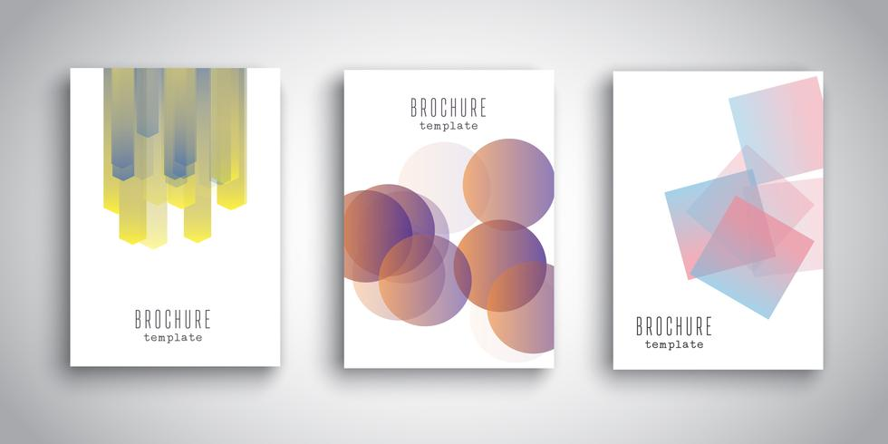 Modelos de brochura com desenhos abstratos