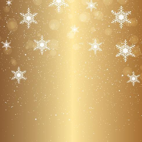 Fundo de Natal de flocos de neve caindo vetor
