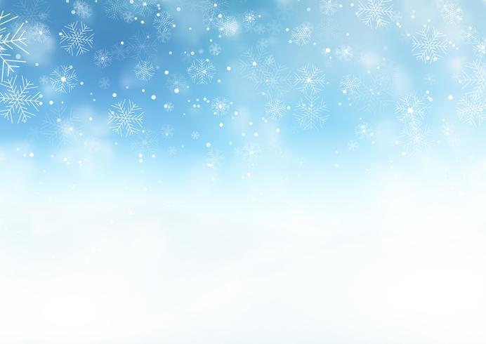 Besneeuwde kerst landschap