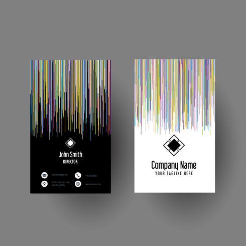Abstract striped business card design