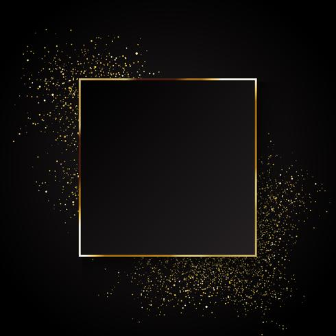 Elegant gold glitter background  vector