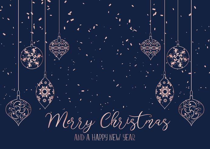 Kerst achtergrond met hangende decoraties