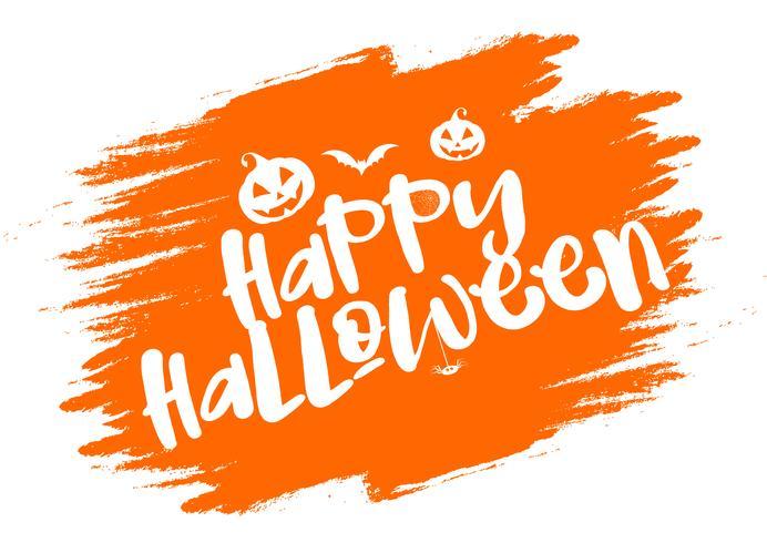 Fond de typographie grunge Halloween