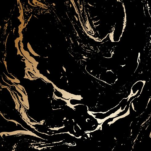 Abstract black and gold texture