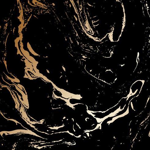 Abstratos, pretas, e, ouro, textura