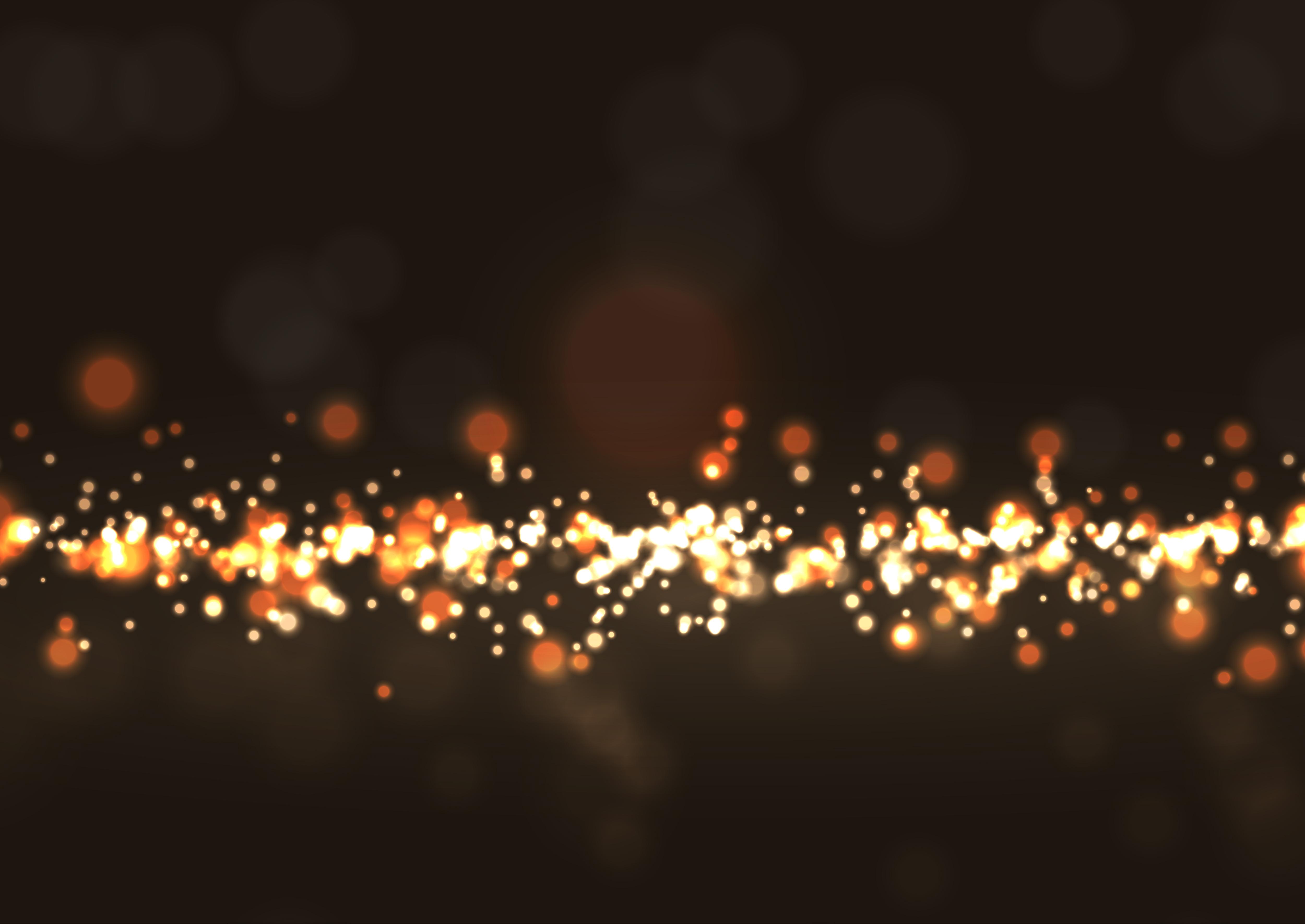 glittery bokeh lights