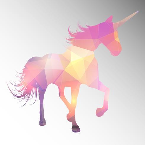 Diseño de poli baja unicornio