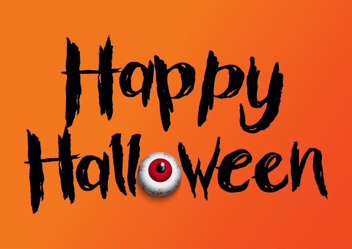 Sfondo di Halloween con bulbo oculare vettore