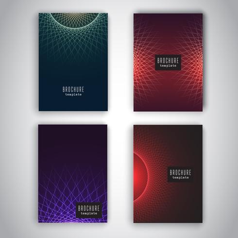 Modelos de brochura com desenhos abstratos vetor
