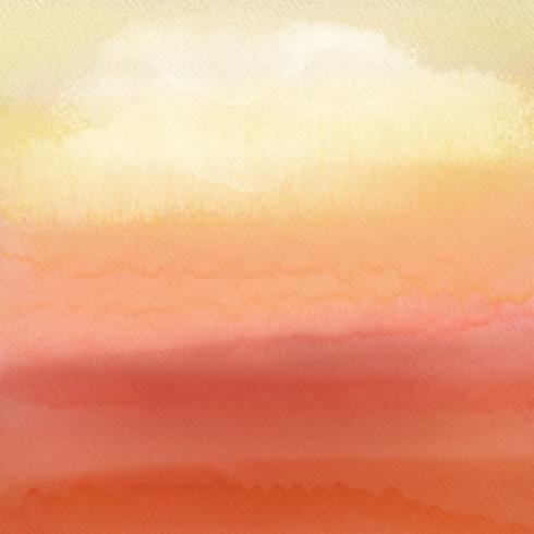 Akvarell solnedgång bakgrund vektor
