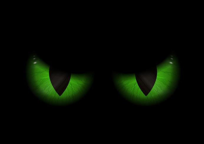 Fondo de ojos verdes malvados vector