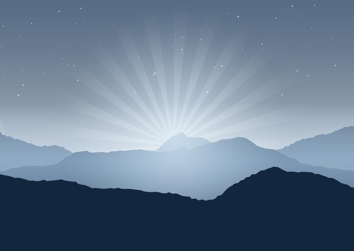 Sfondo di paesaggio notturno vettore