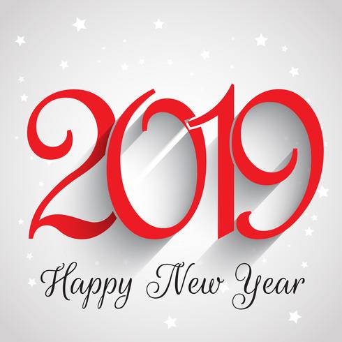 Happy New Year number background  vector