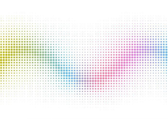 Rainbow halftone dots background