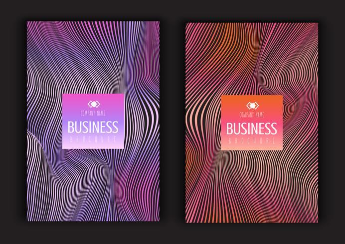 Abstrakta broschyrdesigner
