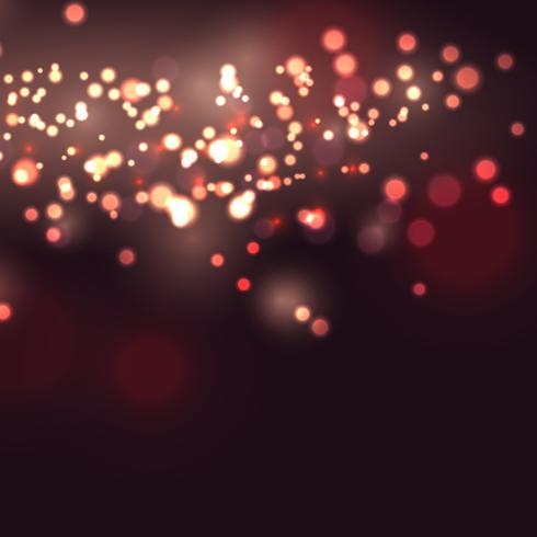 Bokeh lights background  vector