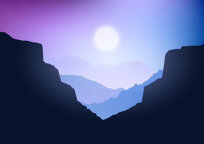 Paesaggio del canyon