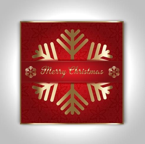 Decoratief kerstkaartontwerp
