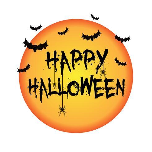 Halloween-achtergrond met knuppels en spinnen vector