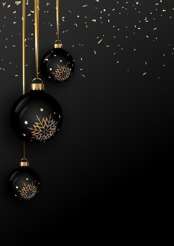 Fond de boule de Noël élégant vecteur