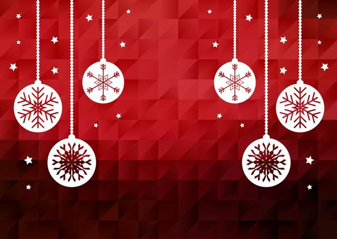 Bagattelle di Natale su sfondo basso poli vettore