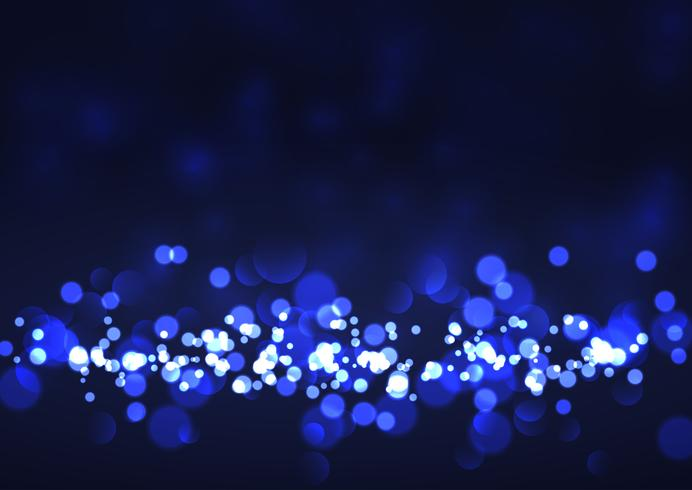 Festive background with bokeh lights vector