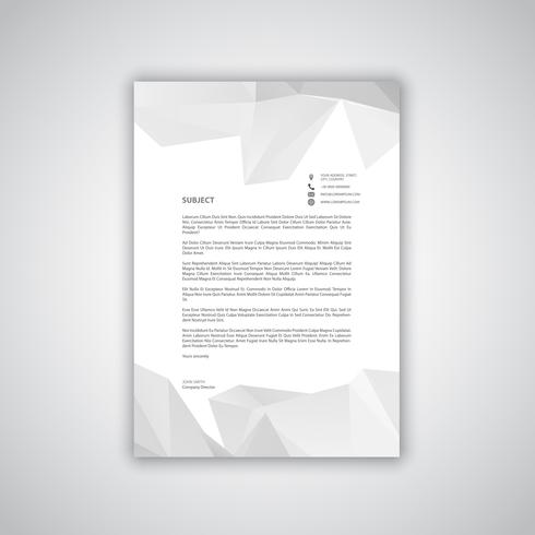 Letterhead with low poly design