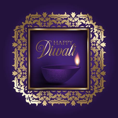 Gold und Purpur Diwali Hintergrund