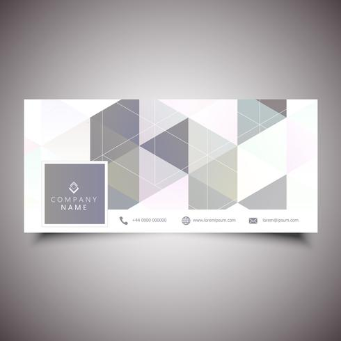 Socialt mediakåpa med låg poly-design