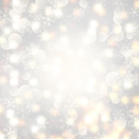 Christmas lights and snowflakes  vector