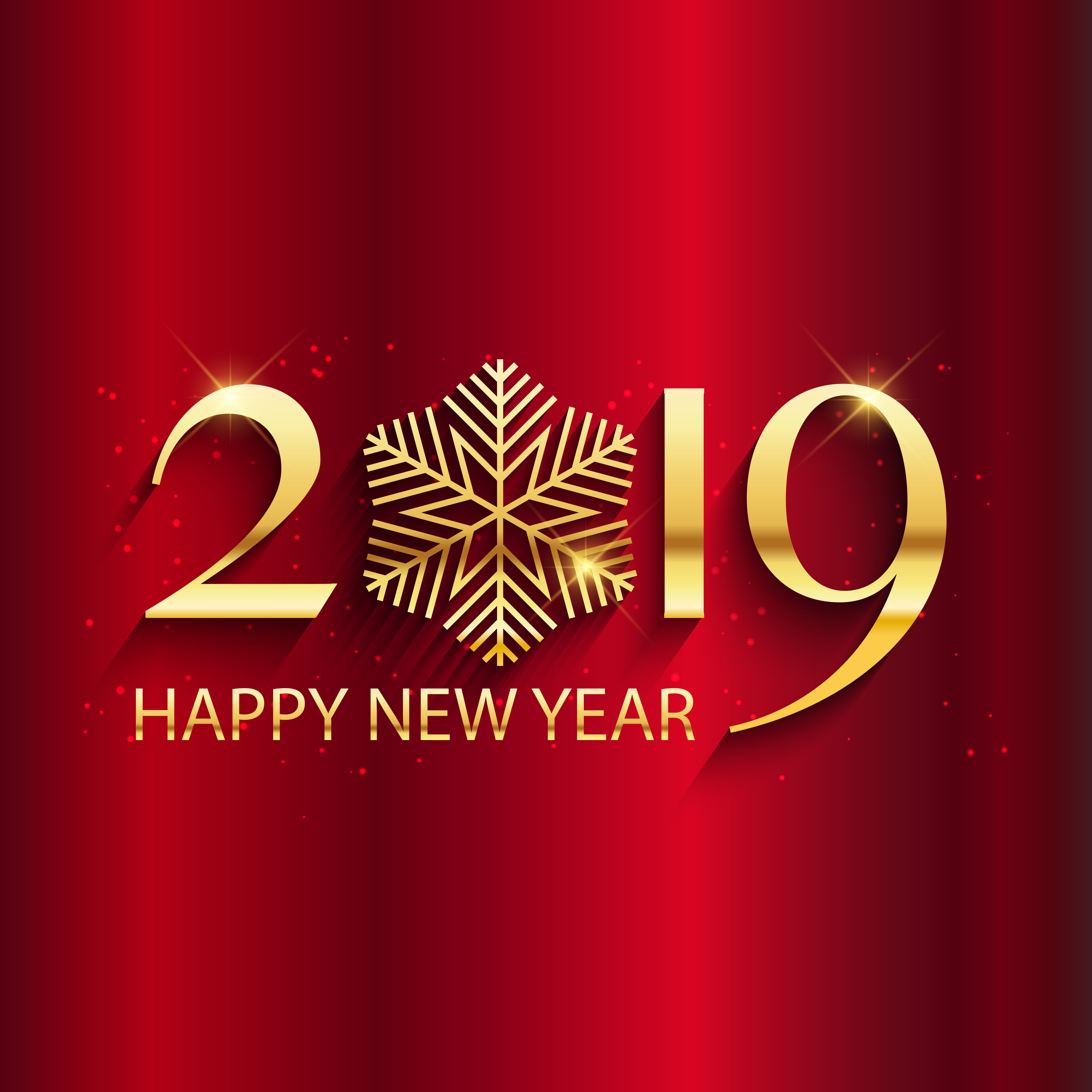 Happy New Year Background With Gold Lettering And Snowflake Desi Download Free Vectors Clipart Graphics Vector Art