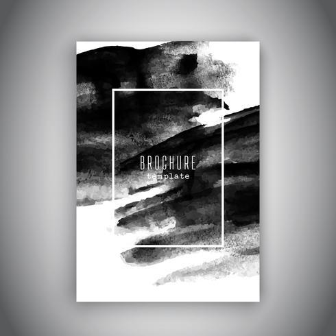 Design de brochura comercial com uma textura de aquarela grunge vetor