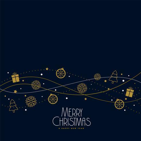 disegno di sfondo decorazione di elementi di Natale