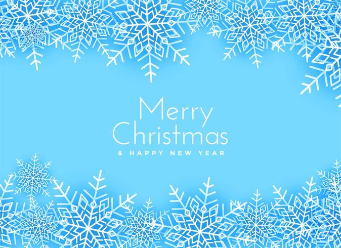 god jul snöflingor bakgrundsdesign