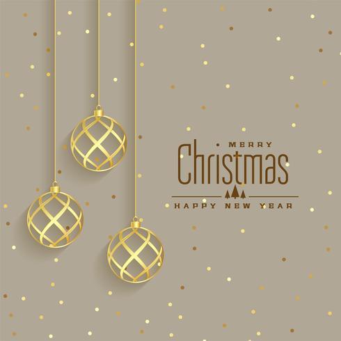 elegante gouden kerstballen premium achtergrond