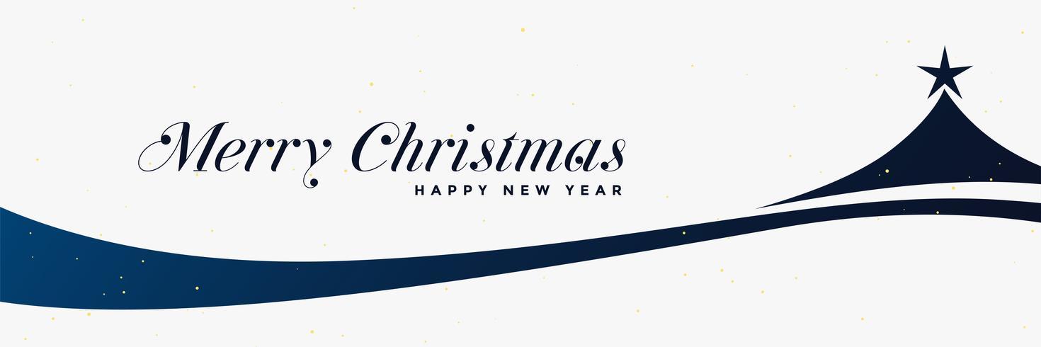 stilvolle Weihnachtsbaum Design Banner