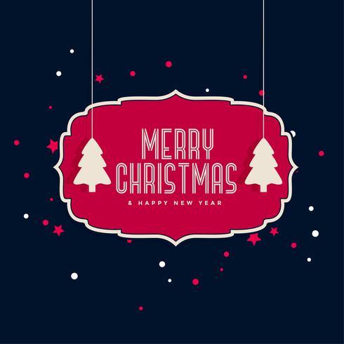 conception de carte de voeux joyeux Noël