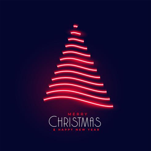 design creativo albero di Natale lucido al neon