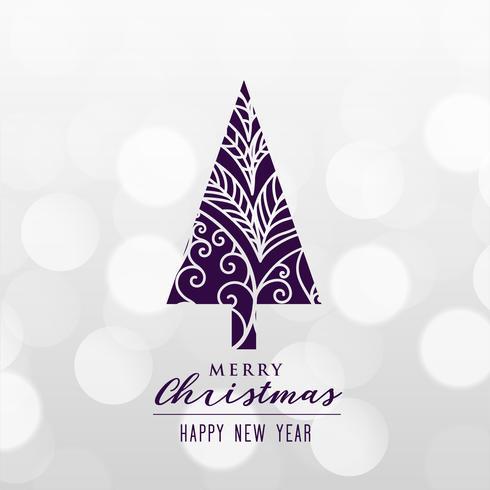 prachtige decoratieve kerstboom achtergrond