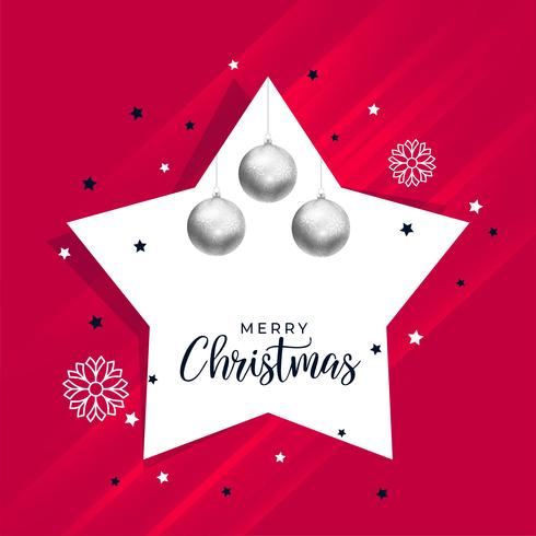 Weihnachtshintergrund mit Stern- und Balldekoration