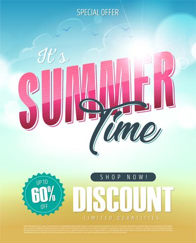 Summer Time Holiday Sale Banner vector